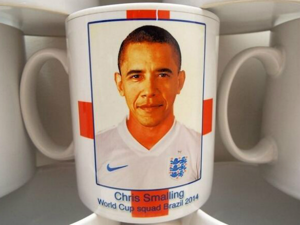 The mug with Barack Obama's picture. Photo from Twitter