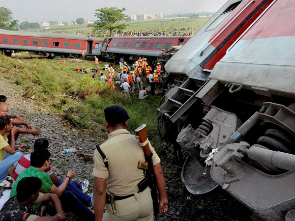 Rescue work in progress after 12 coaches of the Delhi-Dibrugarh Rajdhani Express