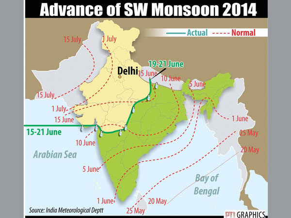 Monsoon to arrive in July