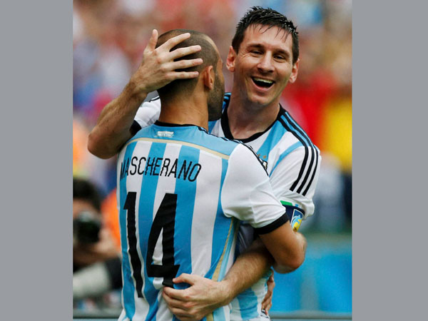 Star Argentine footballer Lionel Messi Wednesday (June 25) became his country's fifth top scorer at a FIFA World Cup, after scoring two of three goals to defeat Nigeria 3-2 in a Group F clash.  Read more at: http://news.oneindia.in/sports/messi-becomes-argentina-s-5th-top-scorer-at-world-cup-finals-1472336.html