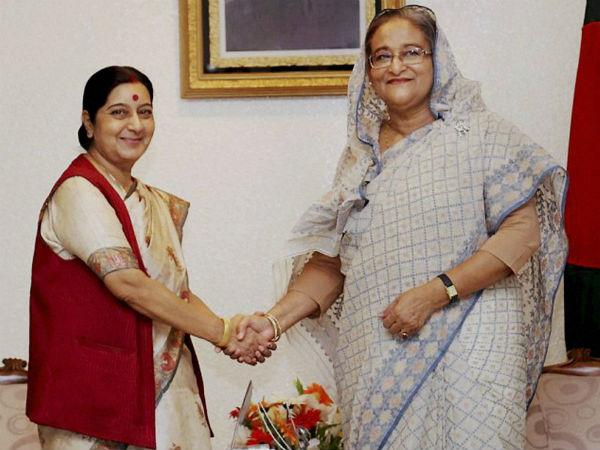 sushma-swaraj-sheikh-hasina