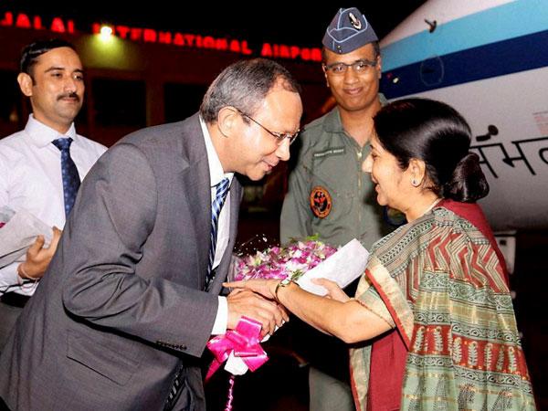 Sushma Swaraj meets Hasina