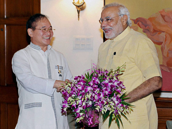 Prime Minister Narendra Modi and Chief Minister of Arunachal Pradesh