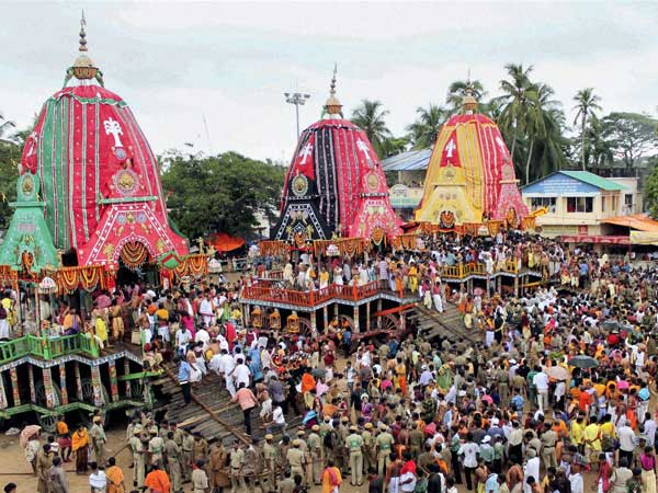 Ahmedabad, Jun 28: Amid tight security arrangements, the Chariot of Lord Jagannath is all set to roll on the city roads, where lakhs of devotees will seek divine blessings during the 137th edition of the Rath Yatra beginning tomorrow from the 400-year-old temple in Jamalpur area here.