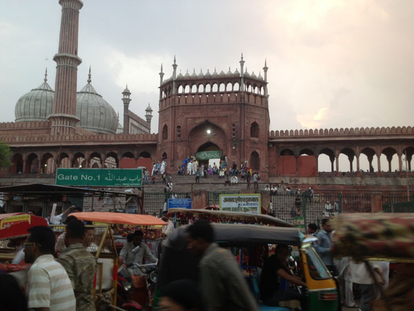 Jama Masjid after offering prayers