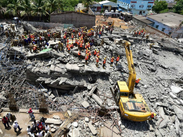 Building Collapse in Chennai. (PTI photo)