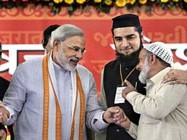 Modi with muslim leaders