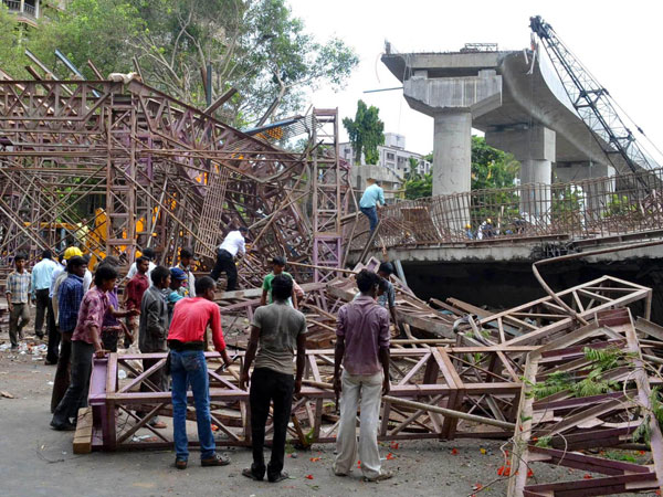 n under-construction flyover collapses in Surat