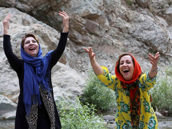 Iran does laughter yoga