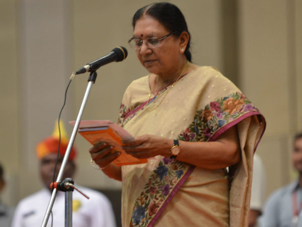 Gujarat Chief Minister Anandiben Patel