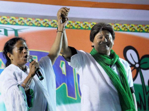 Mamata Banerjee and Tapas Pal