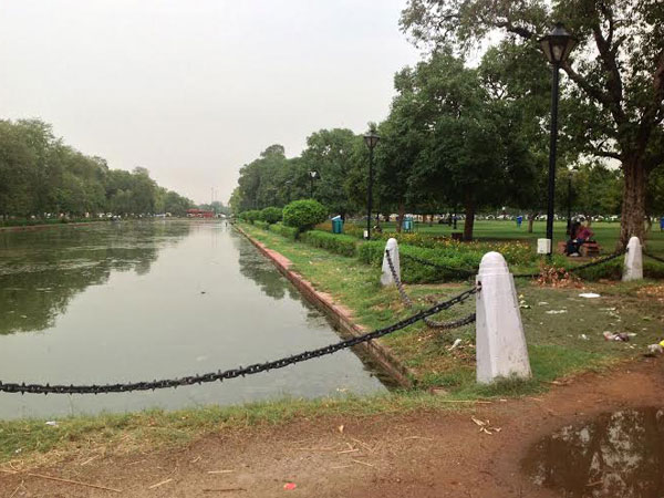 Water logged near India Gate in New Delhi