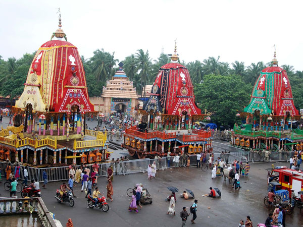Raths (chariots) of Lord Jagannath, Lord Balabhadra and Devi Subhadra