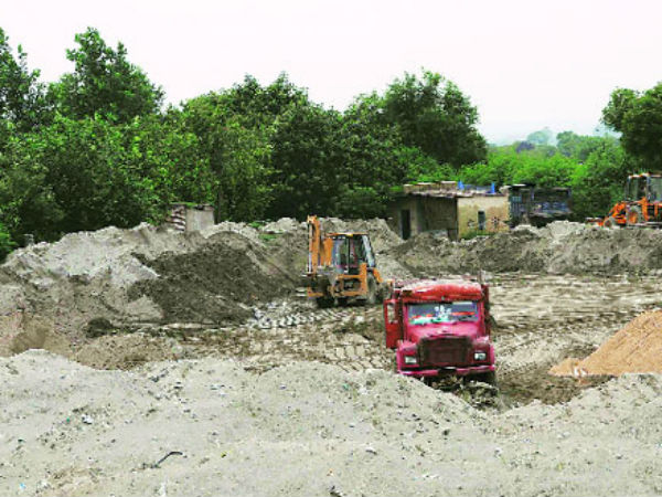 Illegal mining is being practiced in entire UP along the riverbeds due to constant demand for sand.