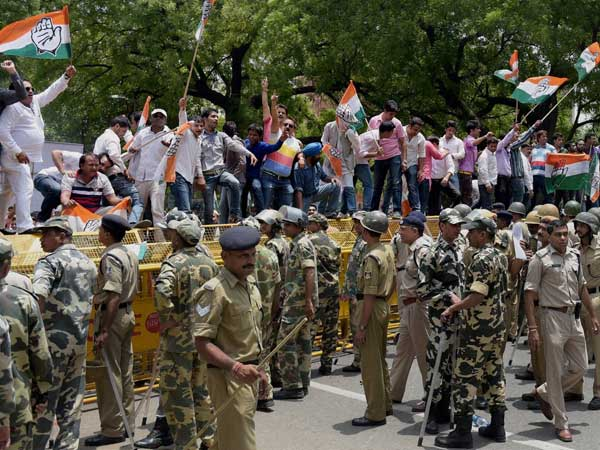 Cong protests against price hike