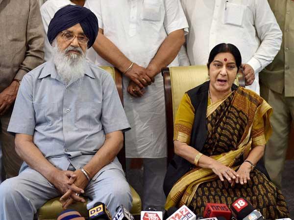 Badal to meet Sushma Swaraj again