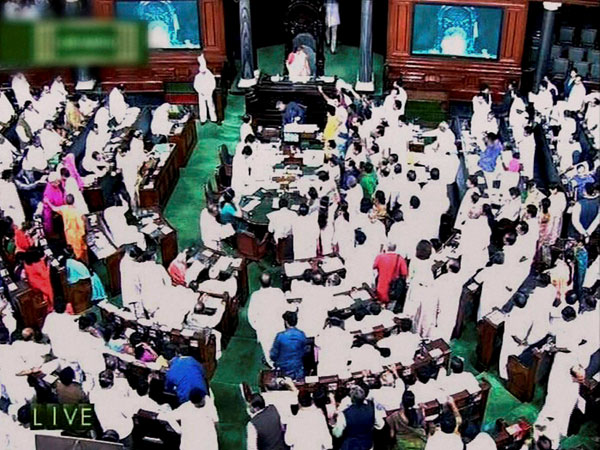 A view of Lok Sabha in New Delhi