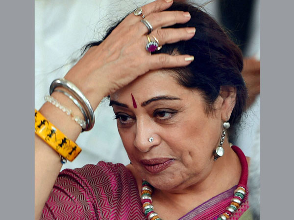 BJP MP Kirron Kher at Parliament House in New Delhi