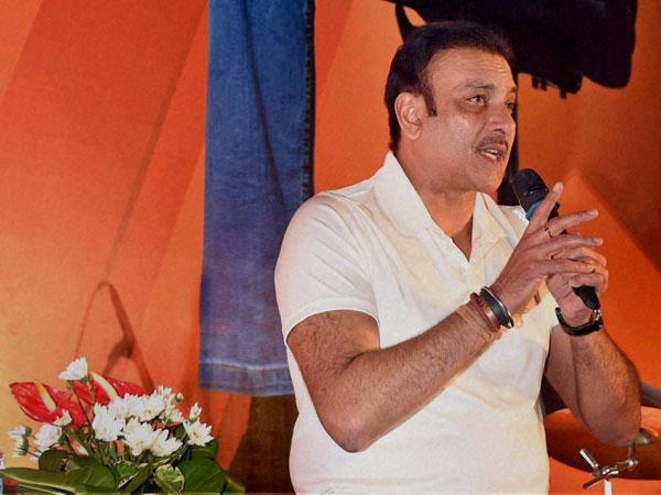 Former cricketer Ravi Shastri interacts with students