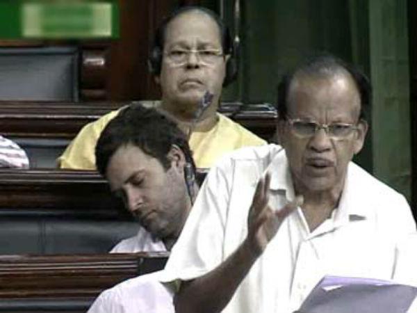 Rahul Gandhi taking a nap in Lok Sabha.