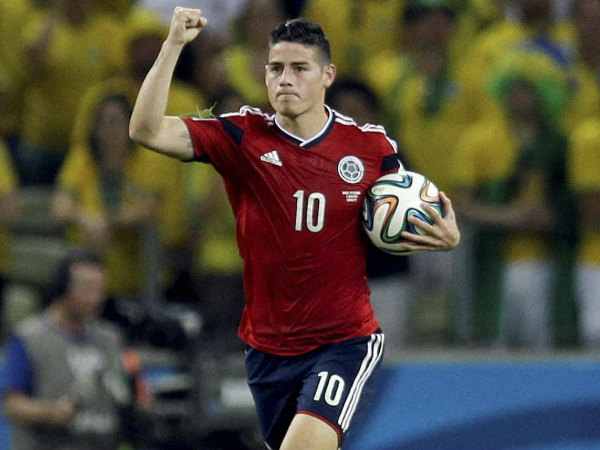 Colombia's James Rodriguez is the leader with 6 goals