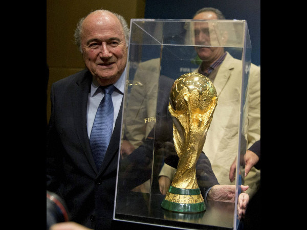 The trophy will be handed over to the champions by FIFA President Sepp Blatter