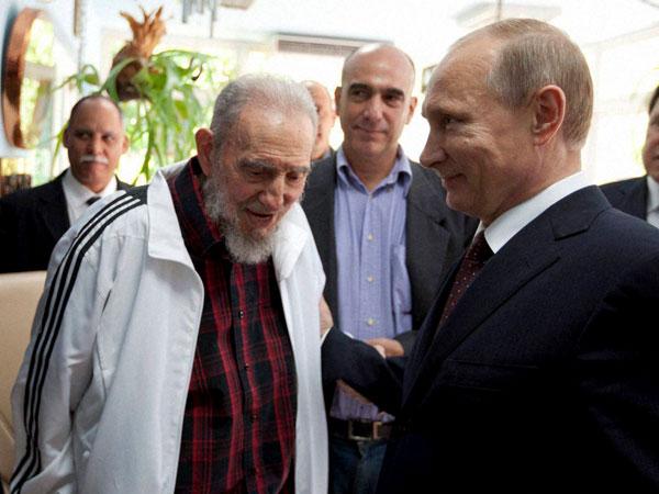 Putin, Fidel discuss global affairs