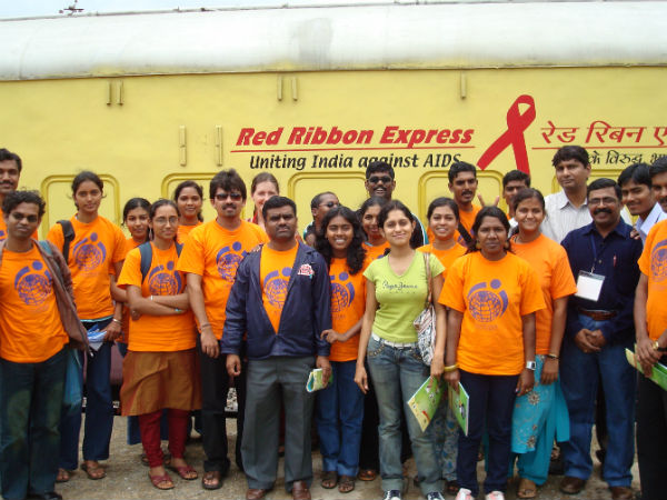 Red Ribbon Express is an AIDS/HIV awareness campaign train by the Indian Railways
