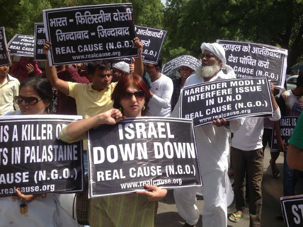 Protest erupts in Delhi after Gaza unrest
