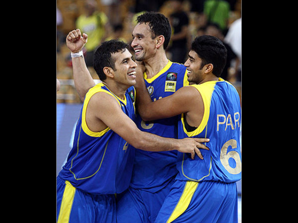 Indian players are ecstatic. Photo: FIBA Asia