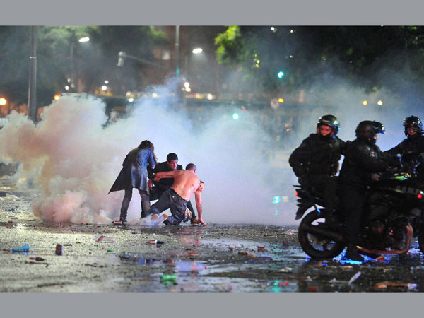 World Cup defeat: Violence in Argentina