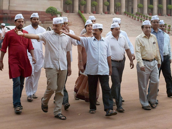 AAP MLAs hold meeting in Delhi