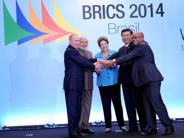 BRICS bank not against IMF: Brazilian president