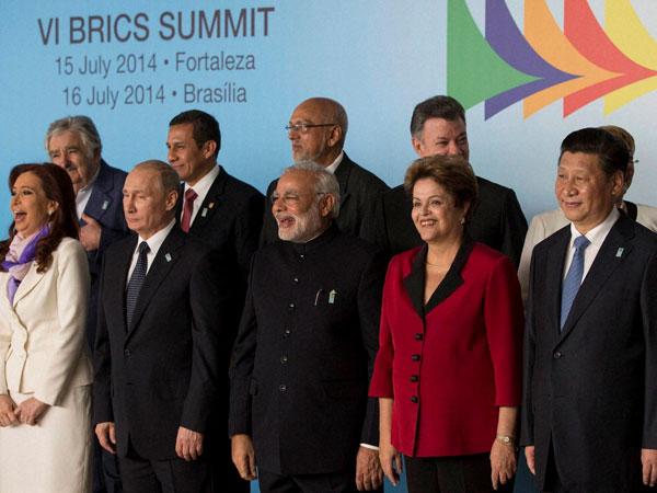 BRICS leaders meet S American Presidents
