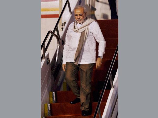 Narendra Modi returns from Brazil