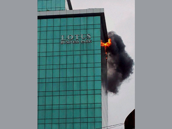 Fire in commercial building in Mumbai