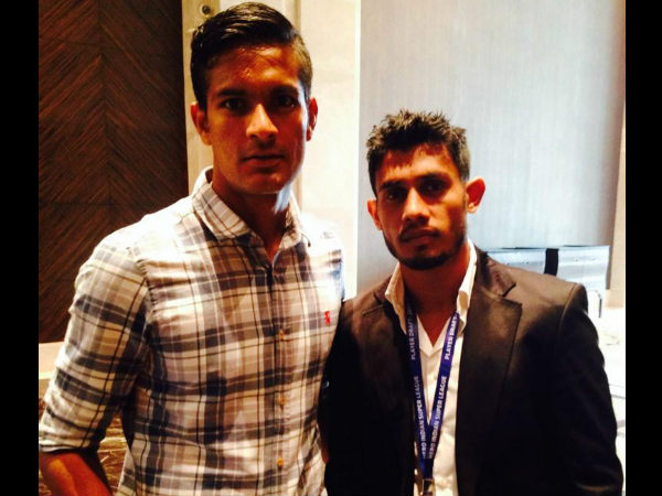 Mumbai's star signings, Subrata Pal and Syed Rahim Nabi. Photo: ISL Twitter account