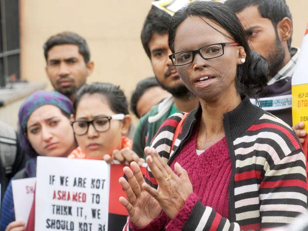 Laxmi, an acid attack victim.