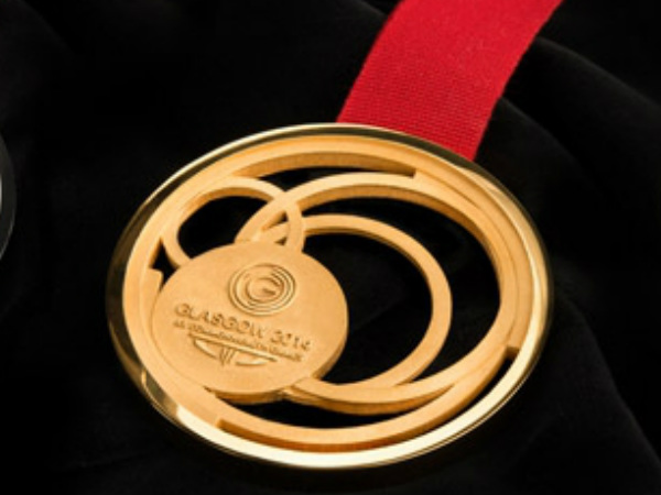 The CWG 2014 gold medal, designed by internationally renowned jeweller and maker Jonathan Boyd