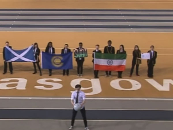 Indian flag at CWG 2014