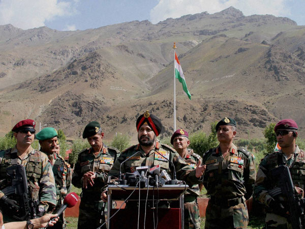 Army Chief General Bikram Singh addresses a function