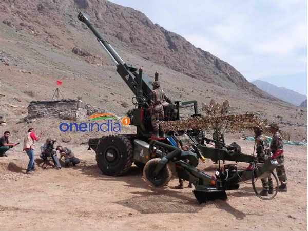 Bofors attacked Pak bunkers