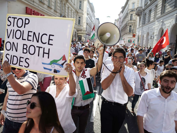 Protest against Israel-Gaza conflict