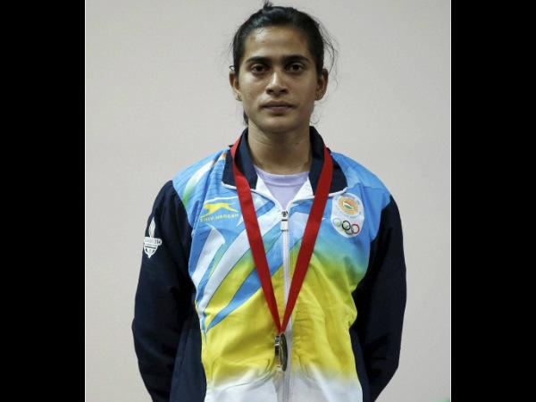 Santoshi Matsa with her silver medal