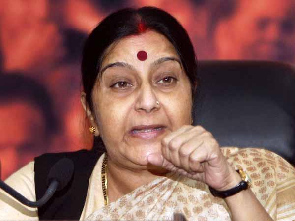Sushma Swaraj meets Nepalese counterpart