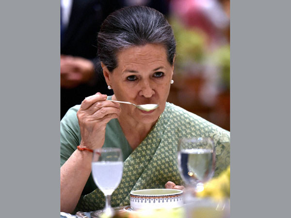 Congress President Sonia Gandhi during her Iftar party