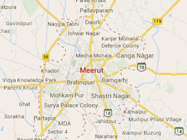Meerut map