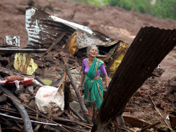 Pune village landslide toll now 28