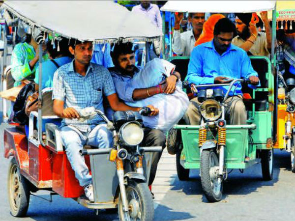 E-rickshaws are becoming a menace on the roads.