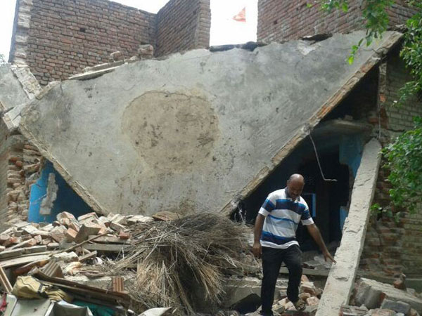 The house on which maoists attacked